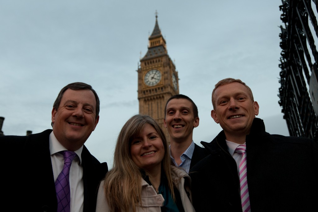 Four of the Wingate Financial Planning Team, who were invited to the House of Commons for the Gold Standard in Independent Financial Advice