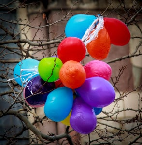 Deflation: the obligatory image of balloons to illustrate our relatively poorer pensioners